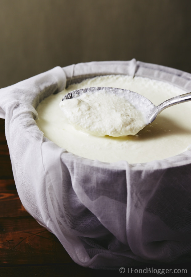 Learn how to make ricotta cheese at home without hassle. It is incredibly simple and results in smooth, rich and creamy ricotta that can complement both sweet and savory dishes.