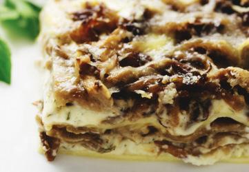 Ricotta and Oyster Mushroom Lasagna