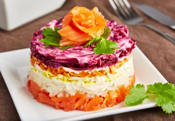 Smoked Salmon Salad Cake