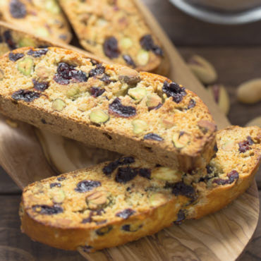 Traditional Italian Biscotti Recipe - crispy on the outside, softer on the inside. Packed with berries and nuts, this is a great dessert for tea or coffee. Super easy to make, fool-proof recipe.
