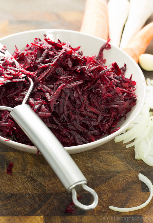 How to make borscht the traditional Ukrainian way - beets