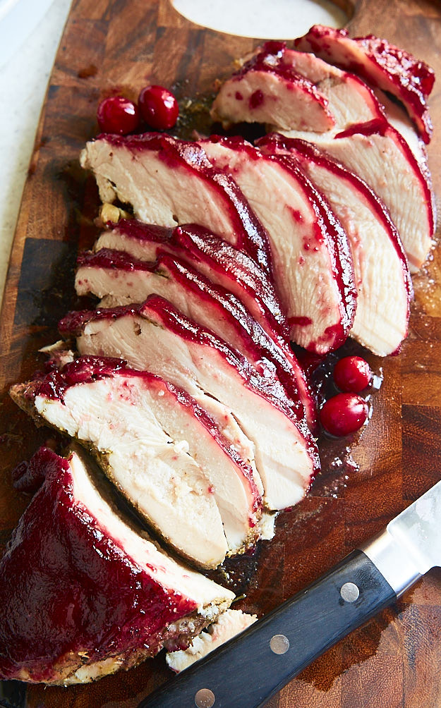 This is my go-to turkey breast recipe for Thanksgiving and any other time I crave cranberries. The turkey breast meat comes out super tender and juicy.