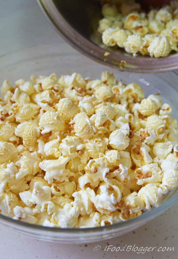 This is the best caramel popcorn recipe. Period. The caramel sauce for popcorn has one ingredient that makes it superbly tasty. Try it, you will love it!