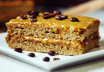Hazelnut Caramel Coffee Cake