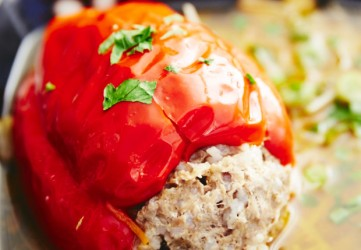 Easy Stuffed Peppers, A Healthier Version