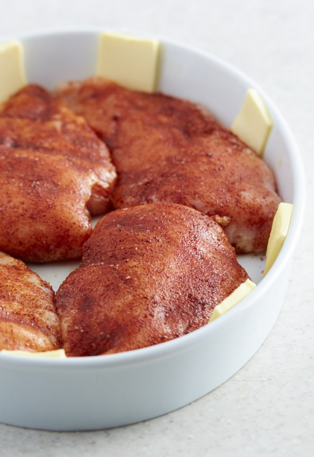 This baked chicken breast is melt-in-your-mouth tender and succulent. It's the best! Easy to make with a few simple ingredients and very flavorful. Just follow three easy steps and will have the perfectly cooked chicken breast, every time.