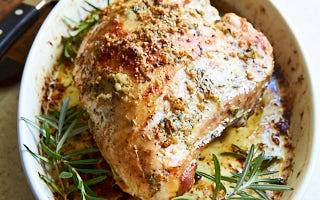 Garlic Butter Roasted Turkey Breast