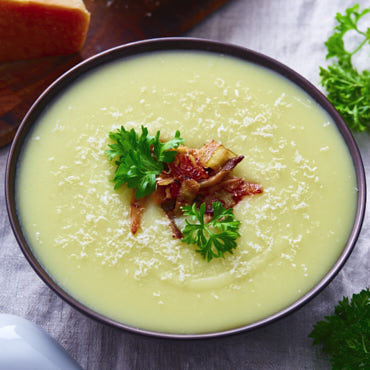 Creamy Potato Soup with Oyster Mushrooms