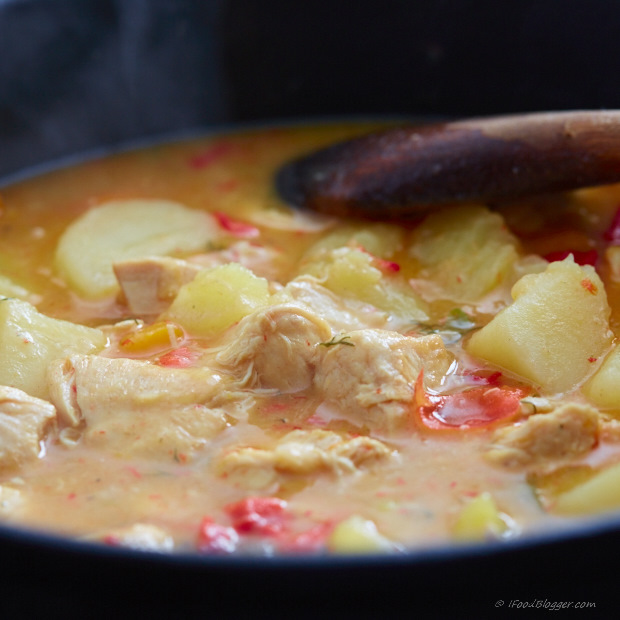 Super easy crock-pot chicken stew.