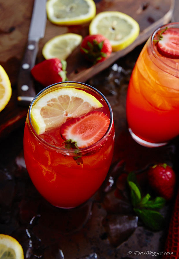 Here is how to make strawberry lemonade without pulp. It's crisp and super refreshing. Only a few basic steps required. No blender or food processor needed.