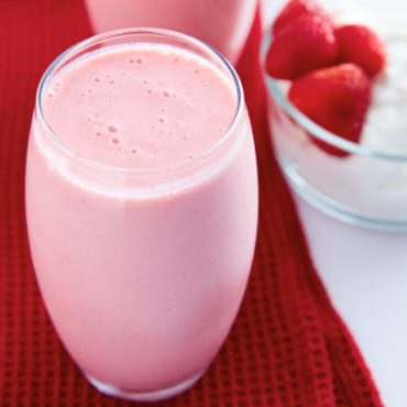 Homemade Strawberry Banana Yogurt Smoothie
