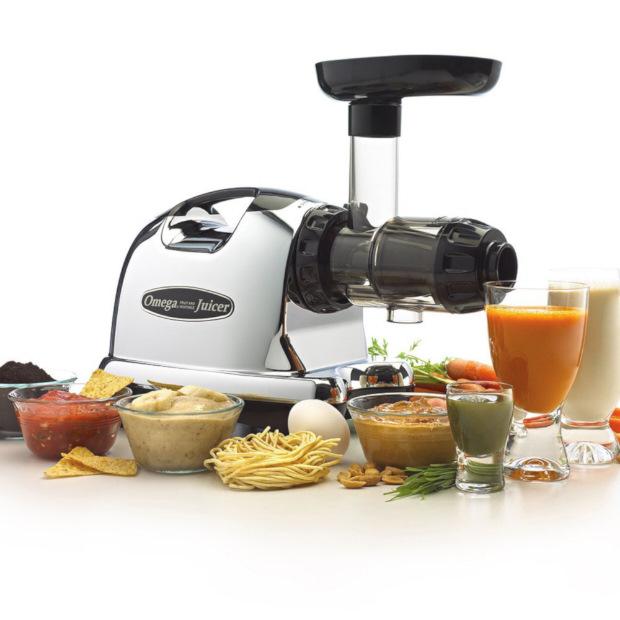 Best Juicers on the Market for Home Use - Omega J8006 Nutrition Center Juicer - Black and Chrome