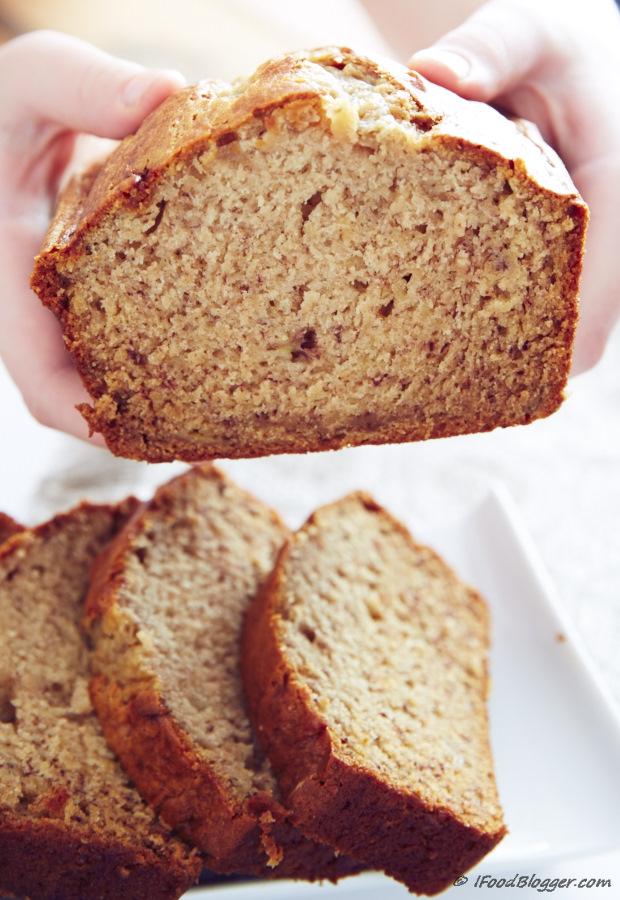 Super moist banana bread with sour cream. This banana bread has a very ...
