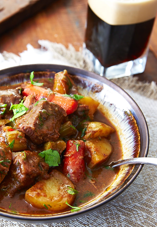 This simple beef stew recipe is easy to prepare, without sacrificing the flavors. It uses Belgian dark ale, for added complexity and malty taste.