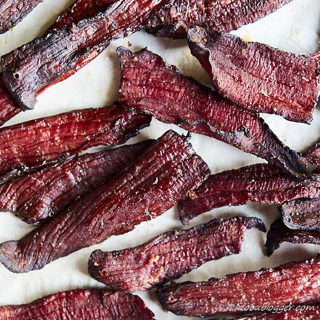How to make beef jerky in the oven - Heated to 275F after drying