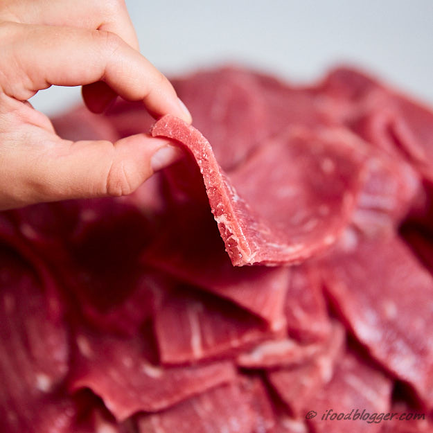 How to make traditional beef jerky - perfectly evenly sliced meat slices for jerky