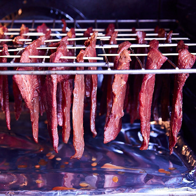 How to make traditional beef jerky - hang the meat in the oven