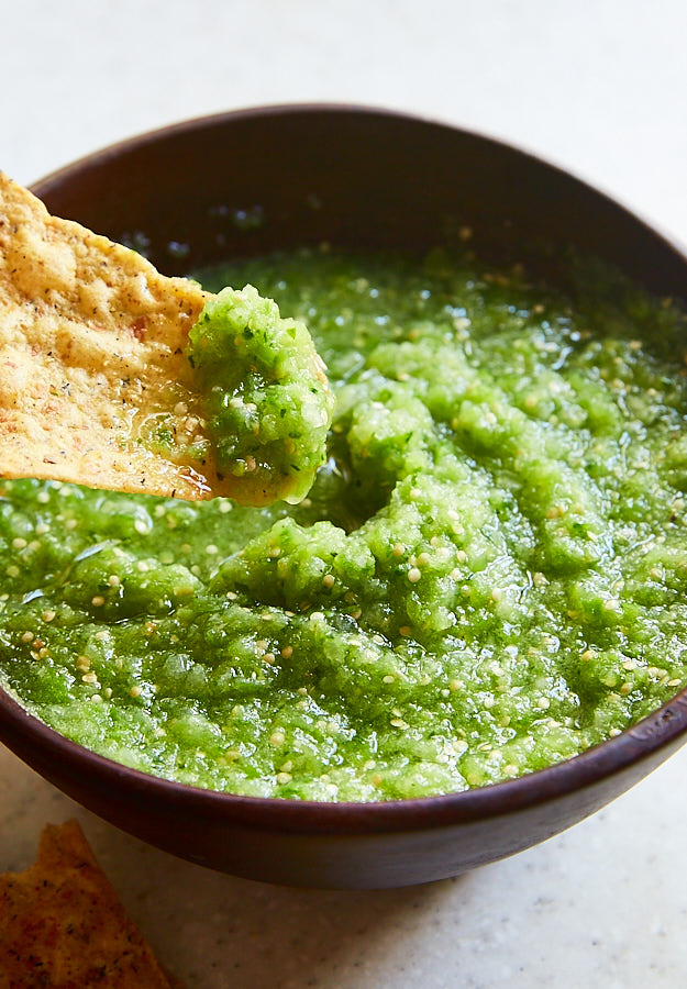 Authentic Mexican Tomatillo Salsa recipes. From raw to roasted salsa verde recipes.