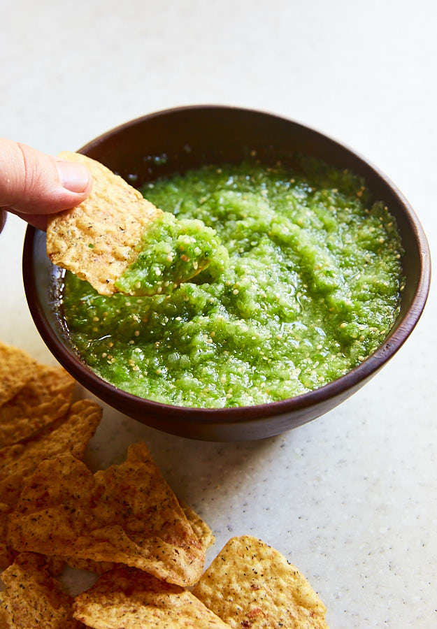 Authentic Mexican Tomatillo Salsa recipes. From raw to roasted salsa verde recipes. Use it on chicken enchiladas or as a condiment for many dishes.