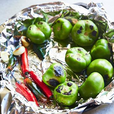 Tomatillo salsa preparation