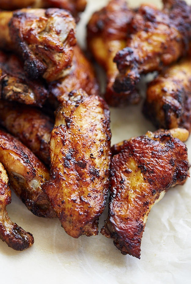 Here is my take on how to bake chicken wings to perfection - crispy skinned, tender and juicy on the inside, ridiculously flavorful and tasty. Just perfect!