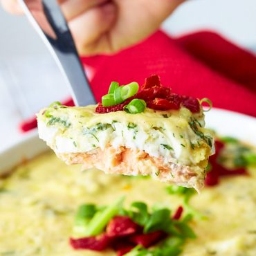 Oven-Baked Salmon with Gouda Cheese and Eggs