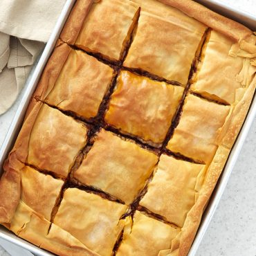 Pork Pie with Beer and Crispy Phyllo Crust