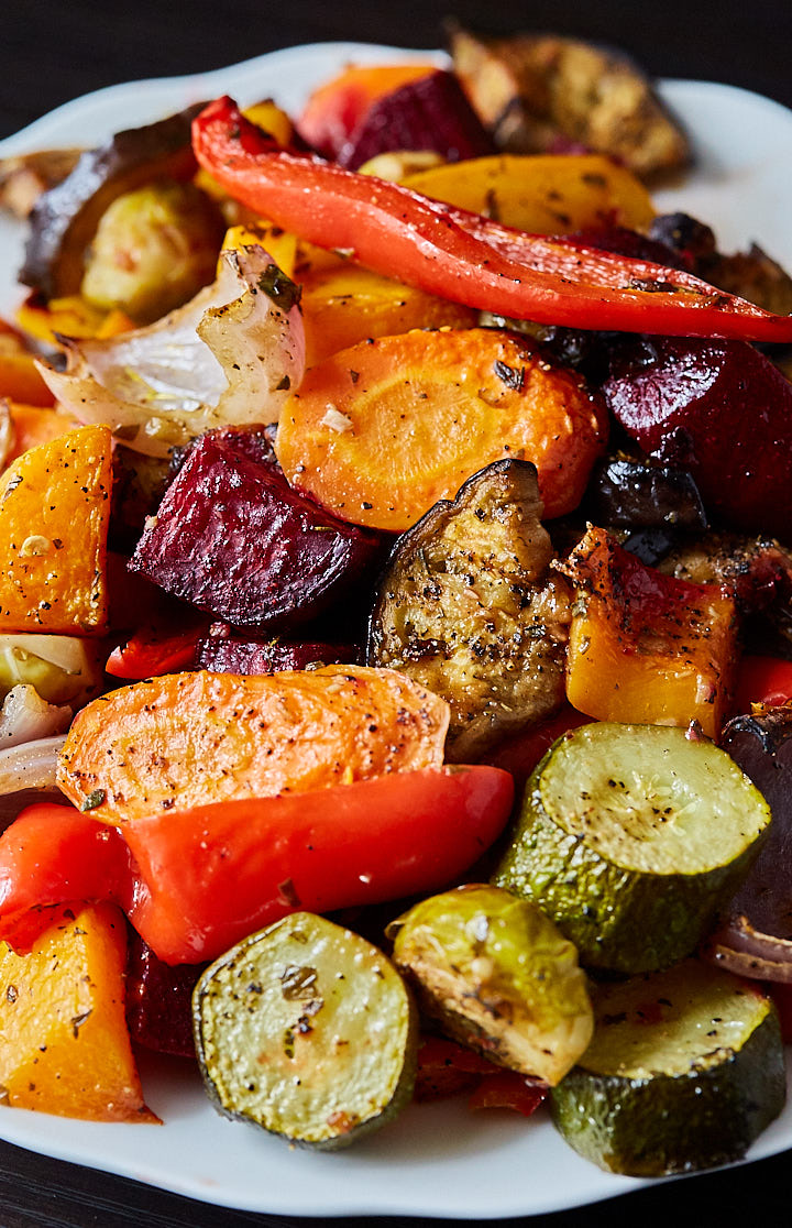 Scrumptious Roasted Vegetables - The best oven roasted vegetables ever! Made quickly and effortlessly. Every vegetable is cooked to perfection.