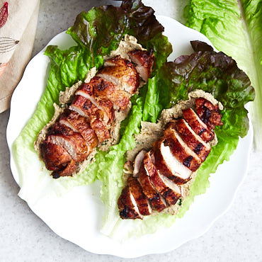 Healthy Chicken Lettuce Wraps with Leek Pate