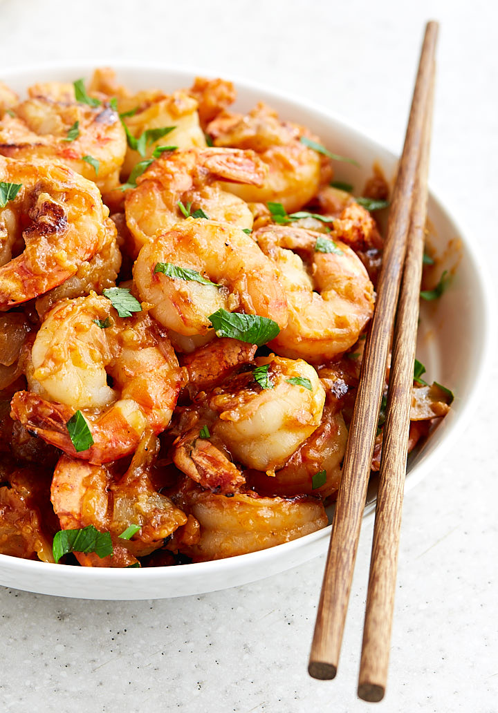 The best hunan shrimp recipe period i food blogger hot and spicy hunan shrimp is so delicious it will make you forget about take forumfinder Choice Image