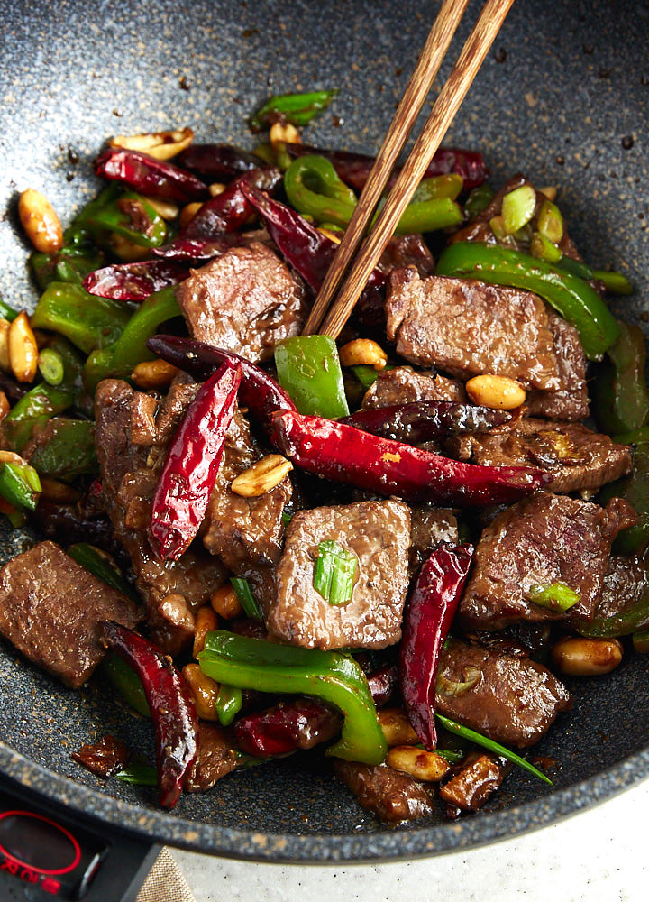 Kung pao beef traditional recipe i food blogger kung pao beef is a chinese dish that combines sliced steak a sauce vegetables forumfinder Choice Image
