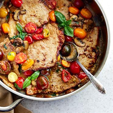 Veal Scallopini with Creamy Mushroom Sauce