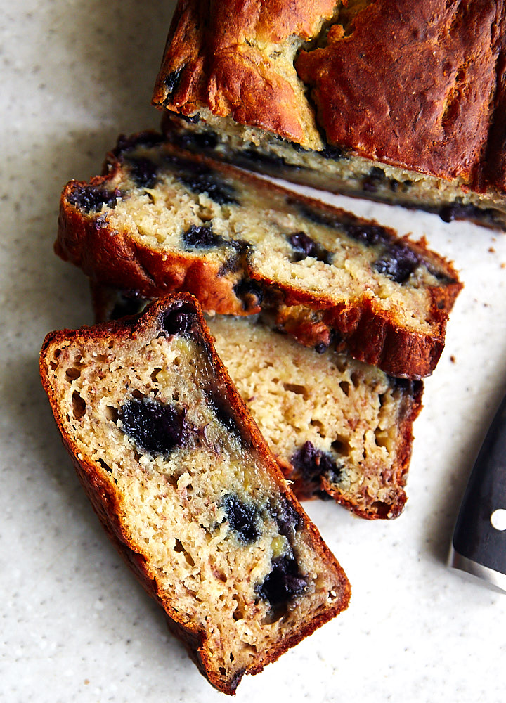 Banana blueberries and Greek yogurt bread - amazingly flavor-rich, with a prefect balance of sweet and tart. Super moist and exceptionally tasty.