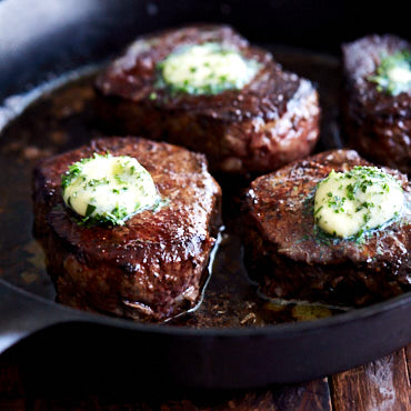 Filet Mignon with Herb and Garlic Butter