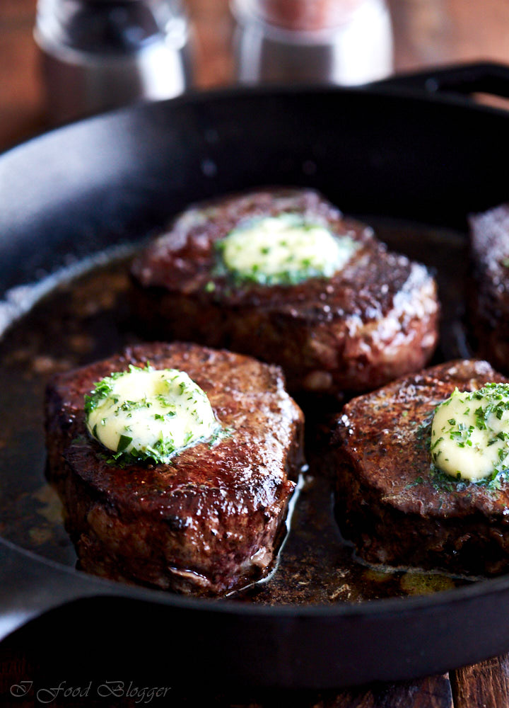 Restaurant-style filet mignon with compound butter - once you try it ...