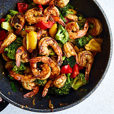Szechuan Shrimp with Broccoli and Peppers