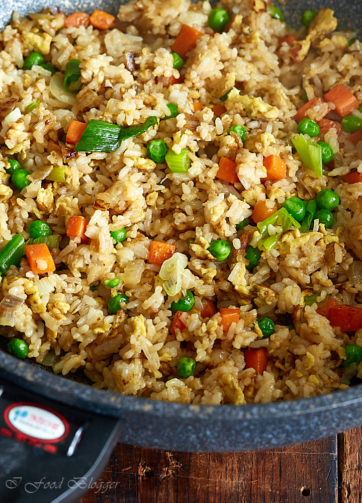 Make this tasty Japanese fried rice (hibachi style) at home with ease. All you will need is the ingredients you likely already have and a flat bottom wok.