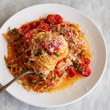 Spaghetti Squash with Fresh Tomatoes and Herbs Recipe