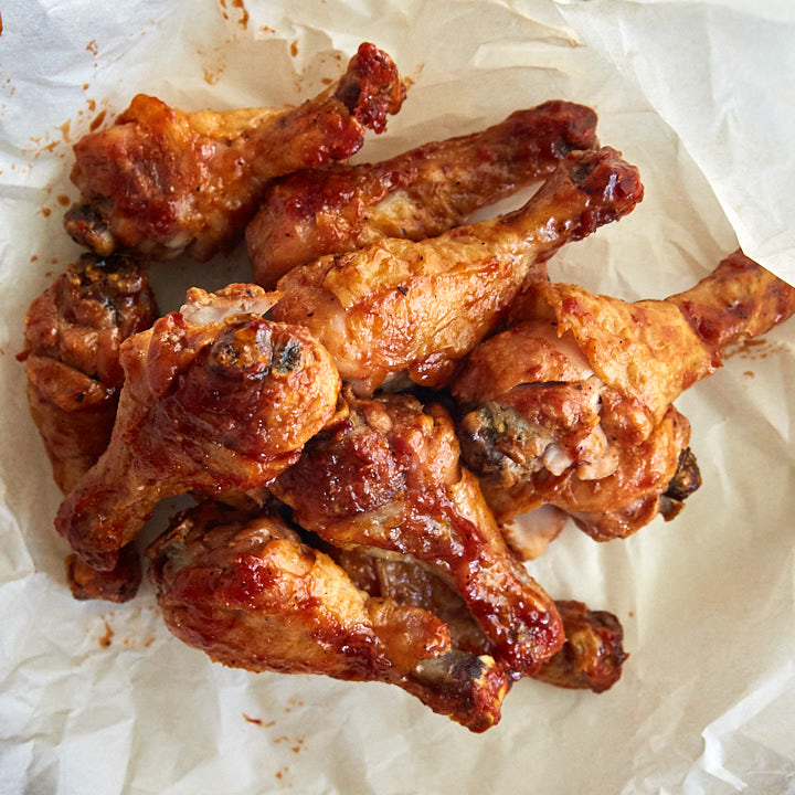 These Buffalo-Style Baked Chicken Drumsticks are chicken wing killers. Once you try them, you will forget about chicken wings. Extra crispy, just like deep-fried!
