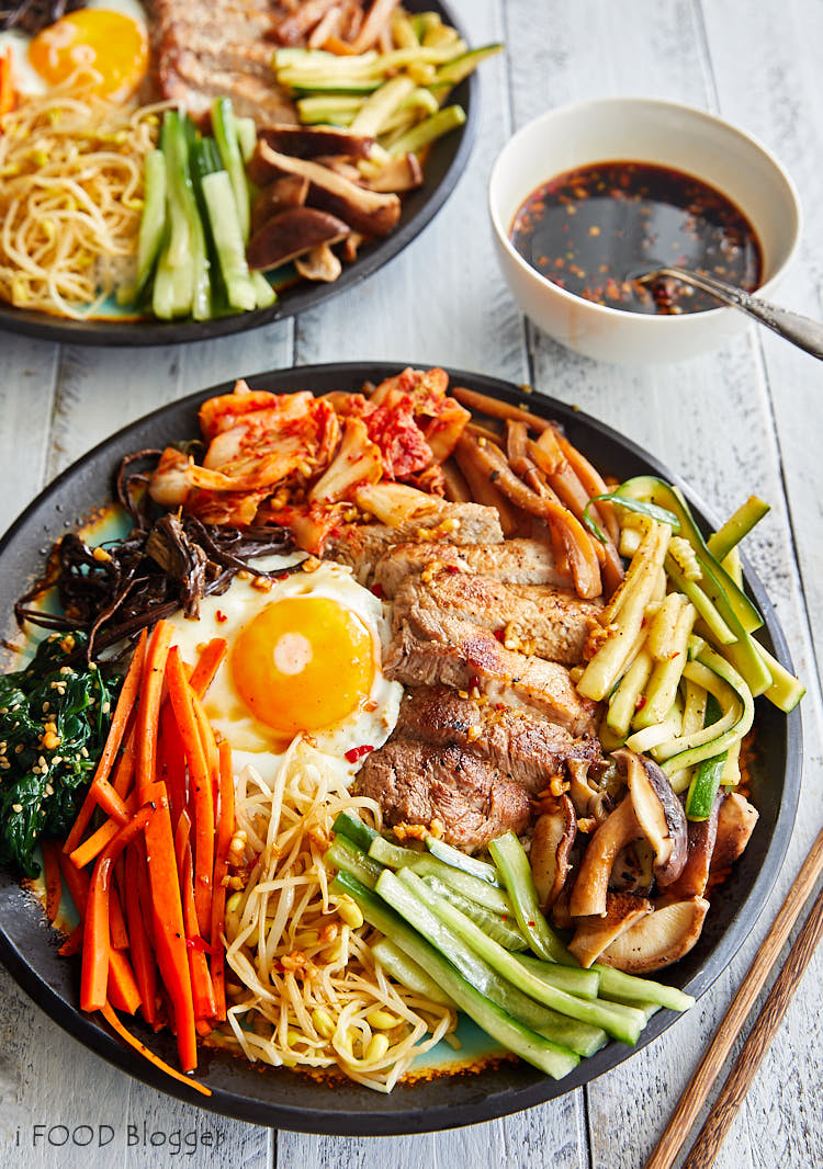 Bibimbap - Korean Mixed Rice - Authentic Bibimbap Recipe | The Easy Bibimbap version can be made in just 20-30 minutes using simple components. Variety of components to choose from to prepare bibimbap, from traditional to simply tasty that work well, with detailed instructions and explanations. | ifoodblogger.com