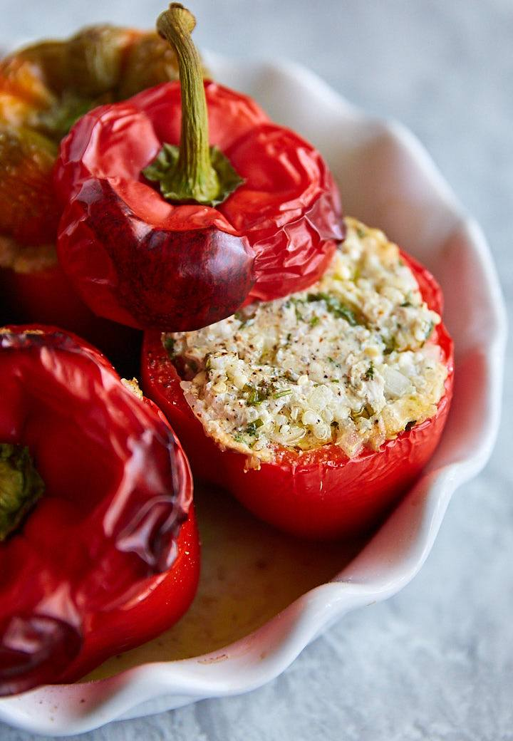 Super healthy yet super delicious Ground Turkey and Quinoa Stuffed Peppers