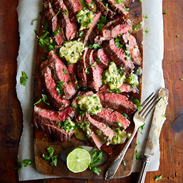 Skirt Steak With Chili Butter