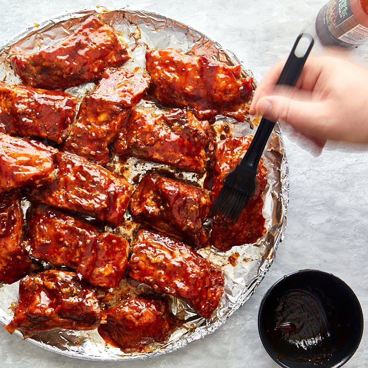 Baked-Baby-back-ribs--step-9-apply-BBQ-sauce