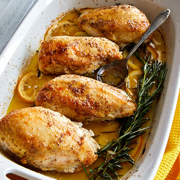 Easy Baked Chicken Breast with Lemon and Rosemary