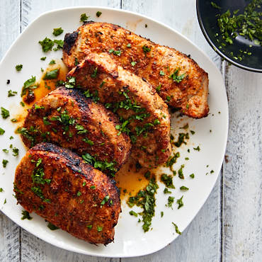 Creole Broiled Pork Chops