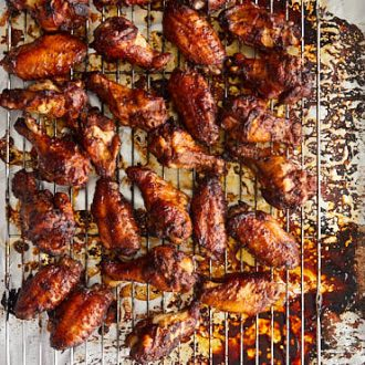 how to cook marinated chicken wings in oven