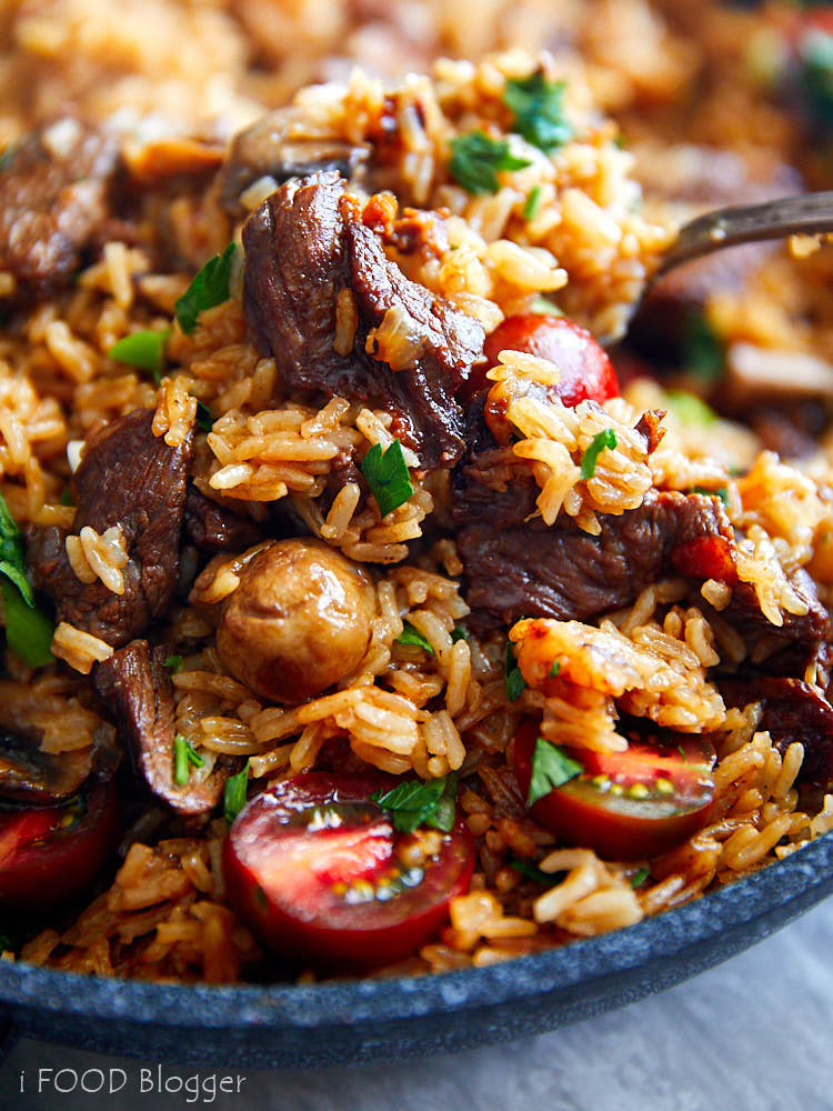 Beef Fried Rice - Delicious, satisfying, easy to make and perfect for meal prepping ahead.   ifoodblogger.com