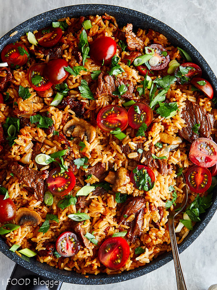 The best beef fried rice that is so good and so satisfying that your family will love you for it. It may taste like comfort food but at less than 500 calories per serving it hardly is. I am sure you will be making it over and over again.