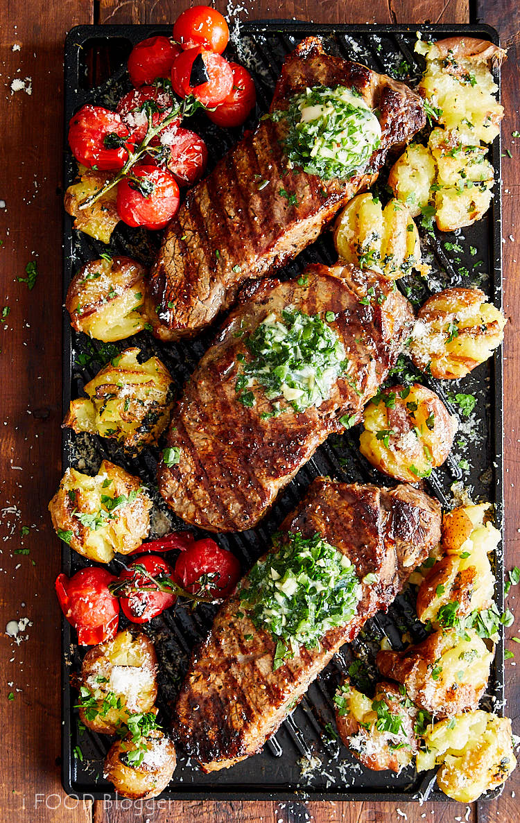 The Best Way to Make Broiled Steak is on a cast iron griddle. Nothing comes even close. Awesome grill marks, perfectly browned and perfectly cooked inside. | ifoodblogger.com