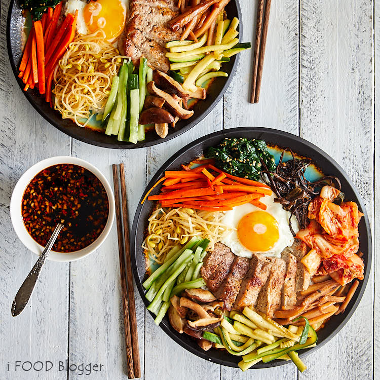 Bibimbap - Korean Mixed Rice - Authentic Bibimbap Recipe | ifoodblogger.com